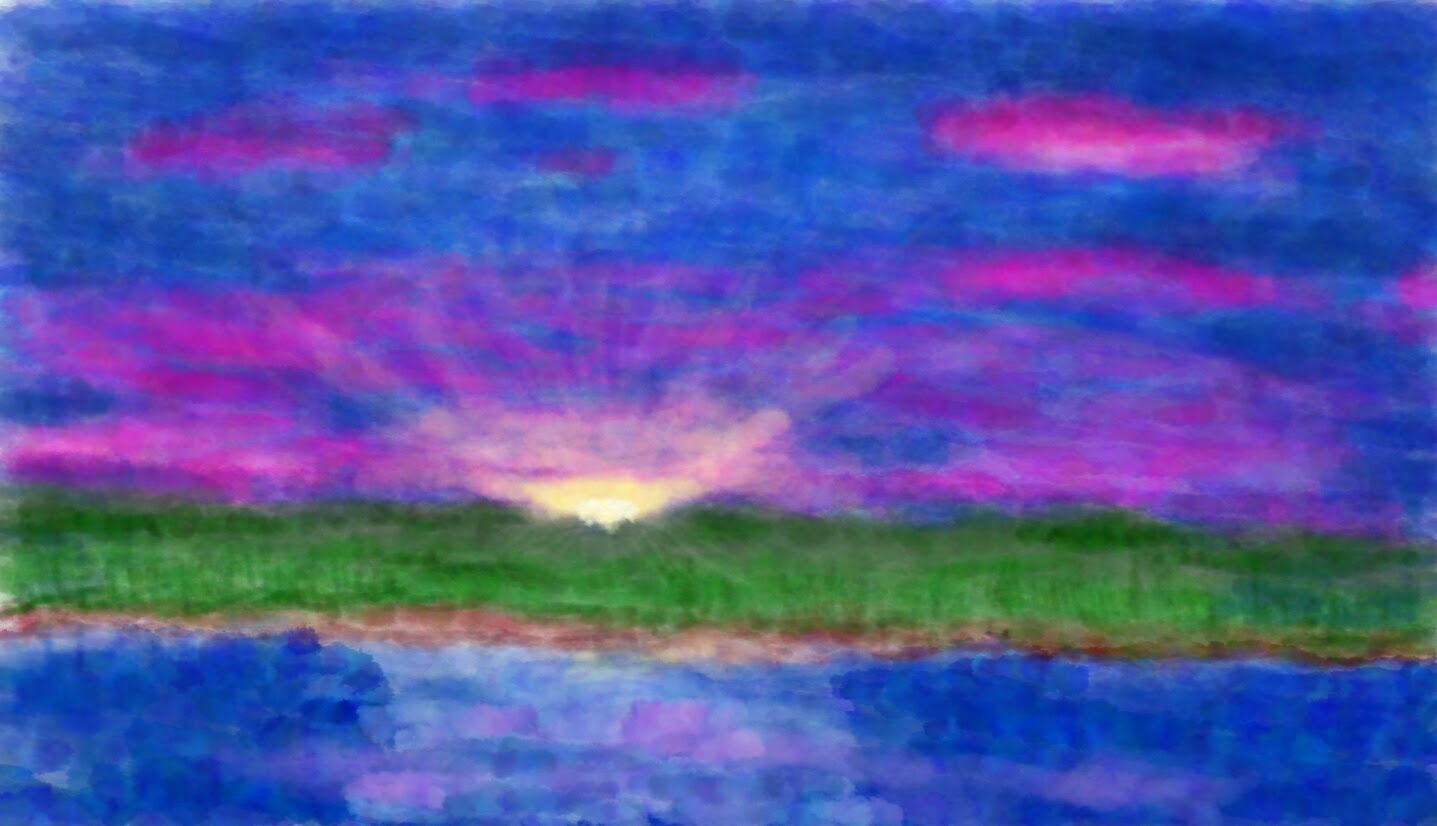 Number 3 – Sunset (Watercolour)
